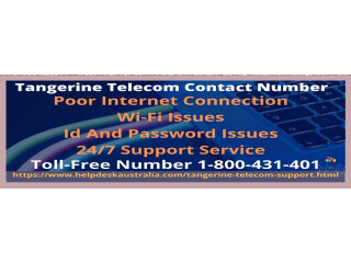Get Solution for Internet Issues from Tangerine Telecom contact number 1-800-431-401
