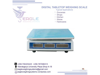 Table top counting weighing scales